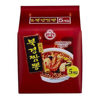 韓國不倒翁北京香辣海鮮味拉麵 120g*5