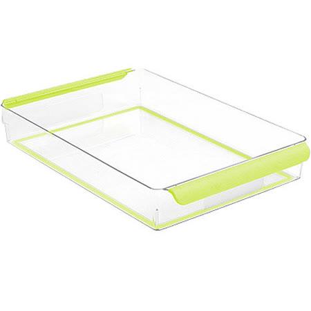 《MADESMART》冰箱收納籃(綠36.1x22.7cm)