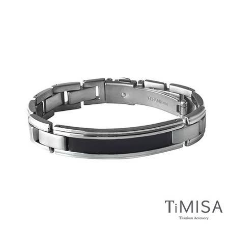 【TiMISA】純粹品味-黑 純鈦鍺手鍊