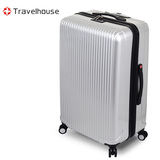 【福利品出清】Travelhouse 幻色雙影 24吋PC鏡面行李箱(銀)