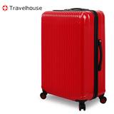 【福利品出清】Travelhouse 幻色雙影 24吋PC鏡面行李箱(紅)