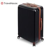 【福利品出清】Travelhouse 幻色雙影 24吋PC鏡面行李箱(黑)