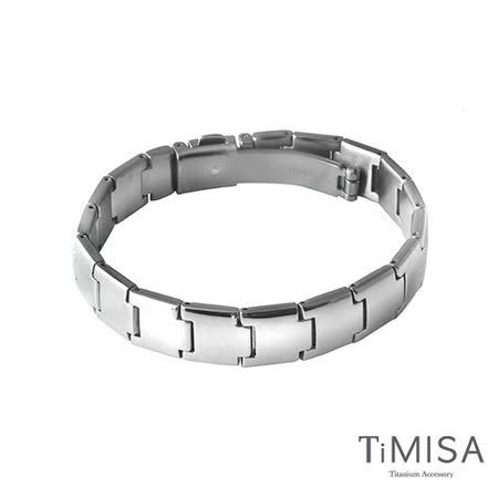 【TiMISA】雅緻時尚 純鈦鍺手鍊