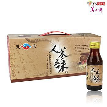 華陀扶元堂 天官人蔘五味飲1盒 (6瓶/盒)