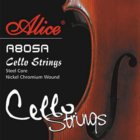 【美佳音樂】Alice A805A 高級高碳鋼芯/鎳鉻合金纏弦 大提琴套弦