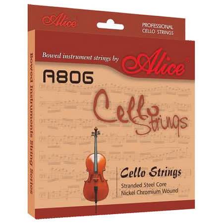 【美佳音樂】Alice A806 進口高碳鋼絲繩芯/鎳鉻合金纏弦 大提琴套弦