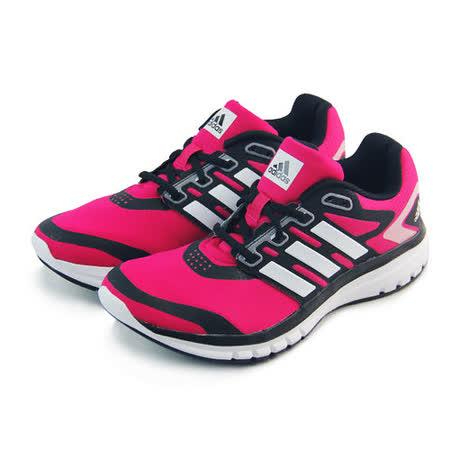 (女)ADIDAS BREVARD W 慢跑鞋 桃紅/黑-B33547