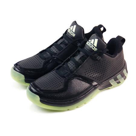 (男)ADIDAS POST UP 2 籃球鞋 黑/淡綠-D69683