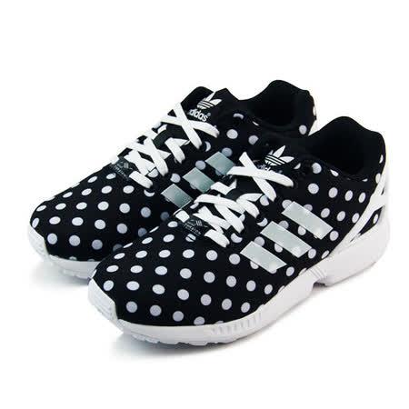 (女)ADIDAS ZX FLUX W 休閒鞋 黑/白-S77312