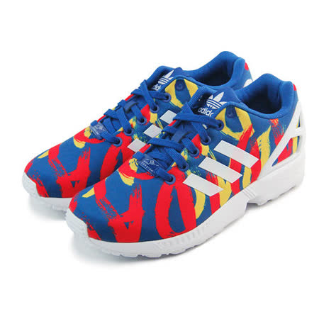 (女)ADIDAS ZX FLUX W 休閒鞋 藍/紅/黃-S77313