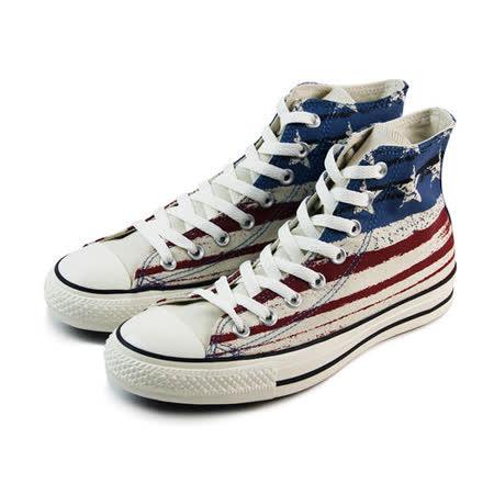 (U系列)CONVERSE Chuck Taylor All Star 帆布鞋 白/紅/藍-149496C