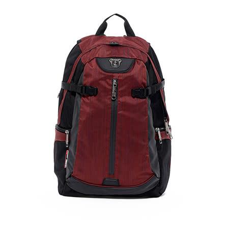 Swissdigital - 型動流線設計後背包 - 紅