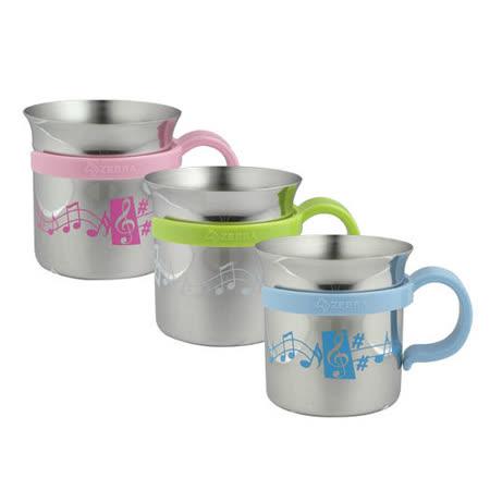 斑馬牌不銹鋼音悅水杯(三入組)兒童馬克杯附可拆把手300cc蒸罐