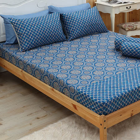 LITA麗塔 森林系列-藍森林 雙人三件床包枕套組