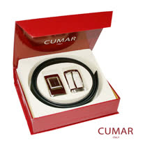 CUMAR雙頭皮帶禮盒組0596-11301-6