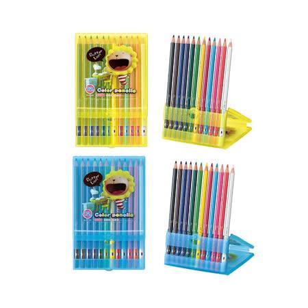 【雄獅 SIMBALION 色鉛筆】奶油獅 BLCP-12/2 (BLCP-12/A) 色鉛筆 (12色)