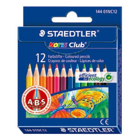 【施德樓 STAEDTLER 色鉛筆】施德樓 MS14401NC12 迷你油性色鉛筆(12色)