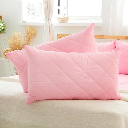 美夢元素 繽紛馬卡龍保潔枕頭套二入〈櫻花粉〉