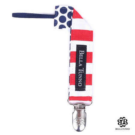 美國 Bella Tunno 奶嘴小物夾 (紅白藍點 FL950)