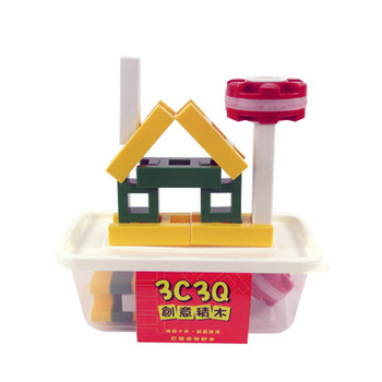 3C3Q創意積木(大塊10片盒裝組)(ST)(84種組合)