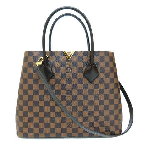 【勸敗】gohappy線上購物Louis Vuitton LV N41435 Kensington 棋盤格紋兩用購物包_預購推薦大 遠東