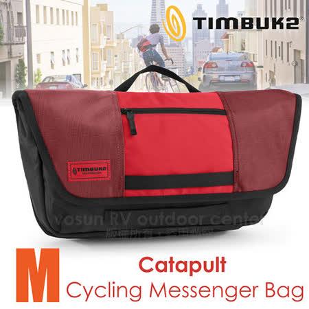【美國 TIMBUK2】新款 Catapult 輕巧郵差包(M,5L)/ 744-4-6061 紅/黑