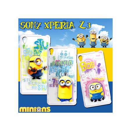 黃色小小兵Minions 正版授權 SONY Xperia Z3 / D6653 透明軟式保護套 手機殼(人物篇)