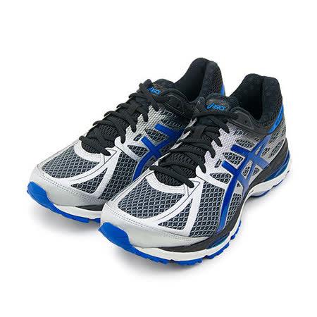 【男】Asics亞瑟士 專業慢跑鞋 GEL-CUMULUS 17 4E寬楦 灰銀藍 T5E0N-1539