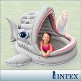 【INTEX】BABY鯊魚游泳池/遮陽戲水池(121L)