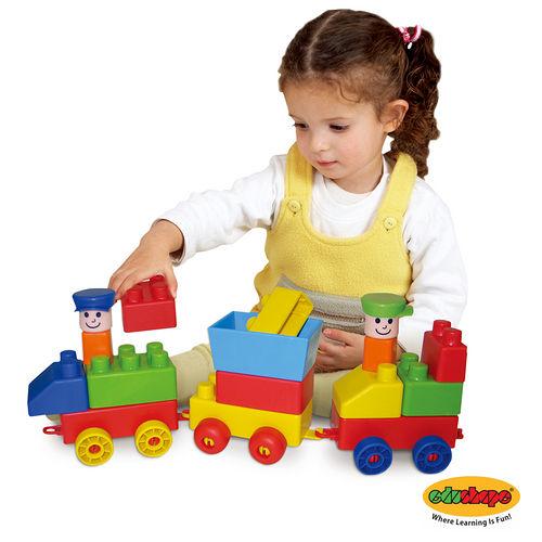 以色列Edushape Mini Edu~train ^(迷你火車軟積木^)