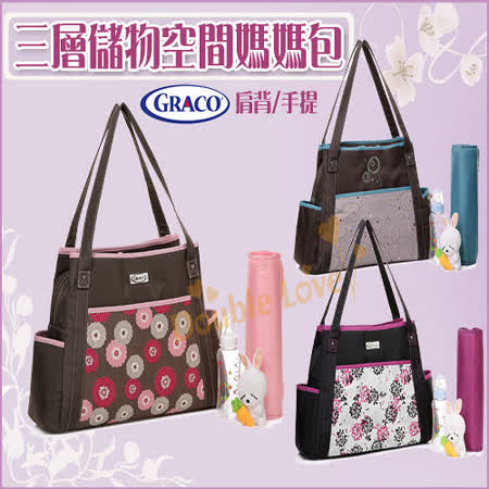 台灣經銷商【MA0014】歐美Colorland三層儲物空間媽媽包/單肩背/手提/爸比包