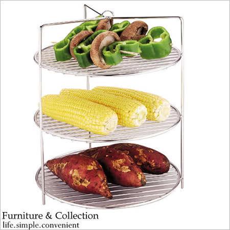 《舒適屋》 不鏽鋼桶子雞爐專用三層烤網