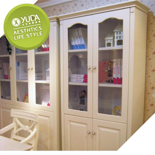 ~YUDA~ 公主專屬 SG902 歐式法式 兩門對開 書櫃書架展示櫃 象牙白 鄉村風 田