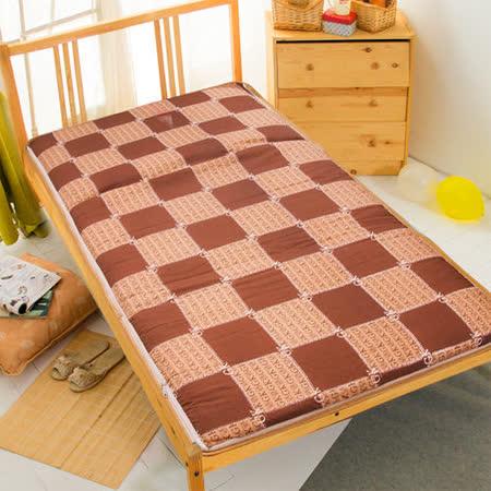 【咖啡王子】冬夏兩用折疊床墊(單人)