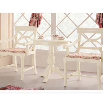 【YUDA】 公主專屬 XT901 歐式/法式 午茶桌/圓餐桌/休閒桌 (橡木實木) 鄉村風家具 田園家具