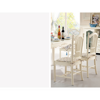 【YUDA】 公主專屬 CY902 歐式/法式 餐椅 象牙白 (橡木)鄉村風 田園家具 +送綁繩座墊
