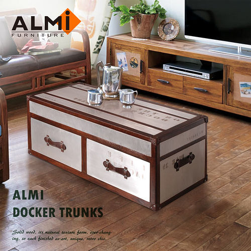 【ALMI】DOCKER TRUNKS- TABLE BASSE 100X50 二抽咖啡桌