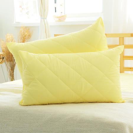 美夢元素 繽紛馬卡龍保潔枕頭套二入〈檸檬黃〉