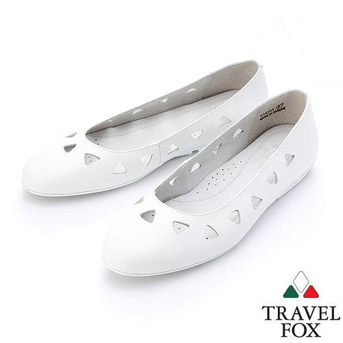 ~女~Travel Fox SOFT~柔軟平底娃娃鞋914331^(白~07^)