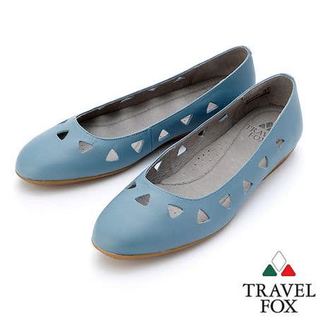 【女】Travel Fox  SOFT-柔軟平底娃娃鞋914331(藍-05)