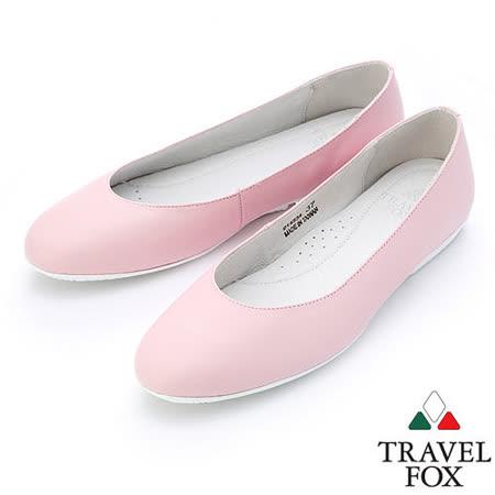 【女】Travel Fox  SOFT-柔軟舒適平底娃娃鞋914334(粉紅-69)