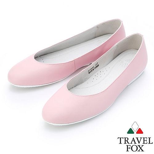 ~女~Travel Fox SOFT~柔軟舒適平底娃娃鞋914334^(粉紅~69^)