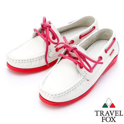 ~女~Travel Fox STYLE~甜蜜色彩帆船鞋914326^(粉紅~69^)