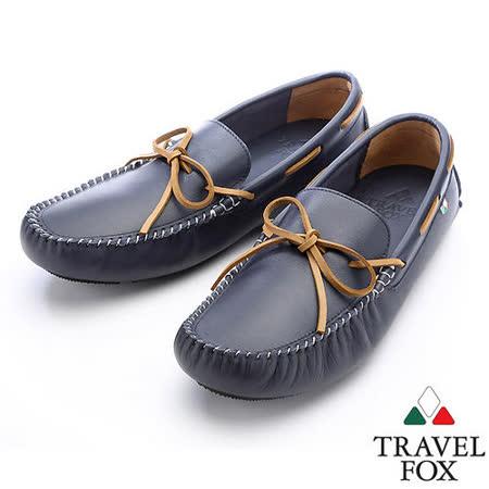 【女】Travel Fox  布萊頓帆船鞋913853(藍-47)