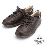 【女】Travel Fox  柔軟休閒鞋913841(深咖啡-76)