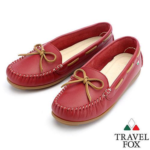 ~女~Travel Fox 透朵舒適鞋913805^(紅~04^)