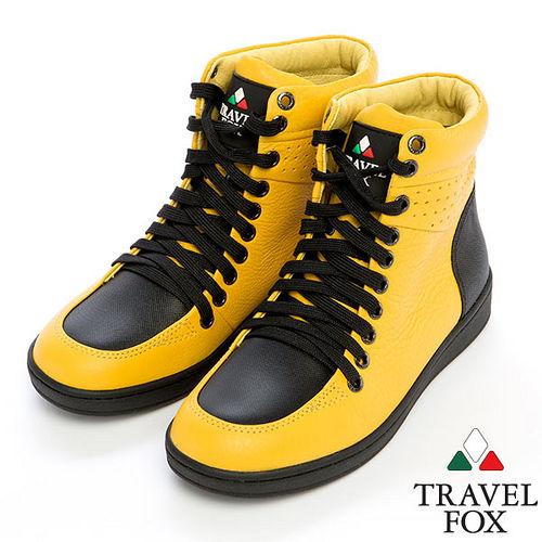 Travel Fox SEXY~零元素高筒鞋914821^(黃~11^)