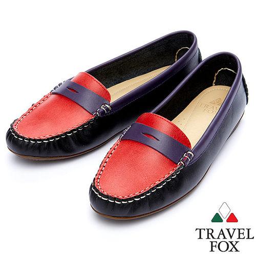 Travel Fox SOFT~色搭柔軟休閒鞋914832^(紫~19^)