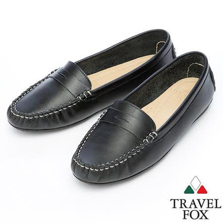 Travel Fox SOFT-色搭柔軟休閒鞋914832(黑-01)