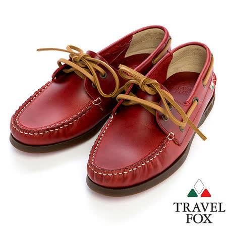 Travel Fox STYLE-經典帆船鞋914827(紅-04)